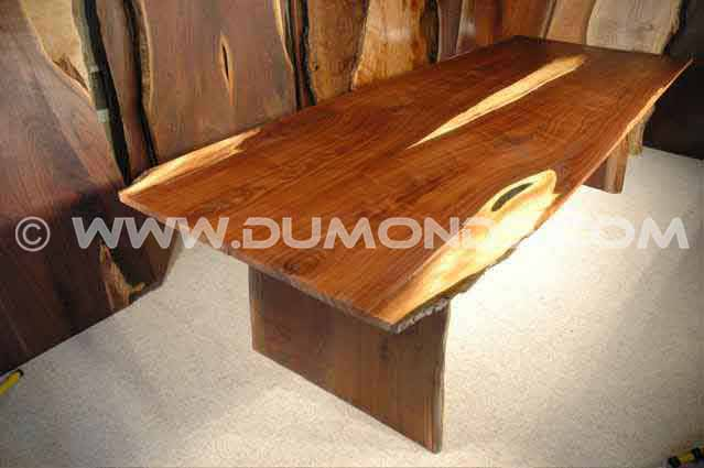 Walnut Crotch Slab Dining Table