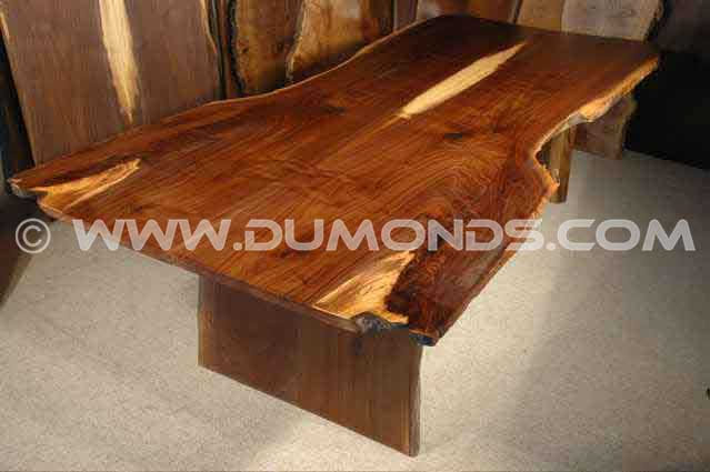 Walnut Wood Crotch Rustic Dining Room Table