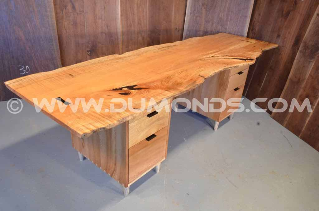 Burled Maple Slab Desk