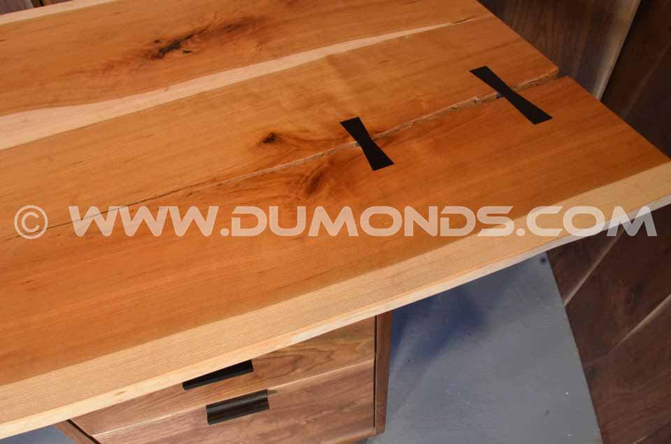 Cherry Slab Custom Executive Desk