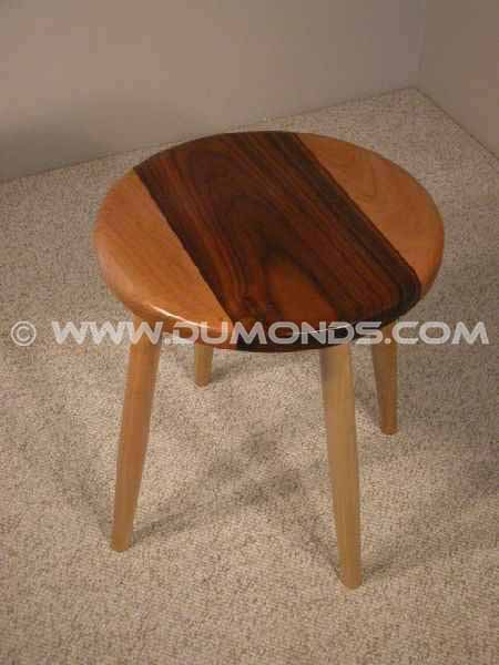 Cherry and Walnut Custom Wooden Stool