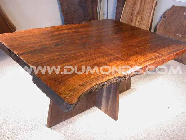 Rustic Walnut Slab customdining table