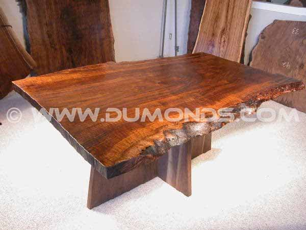 Organic Shaped Claro Walnut Slab Conference Table