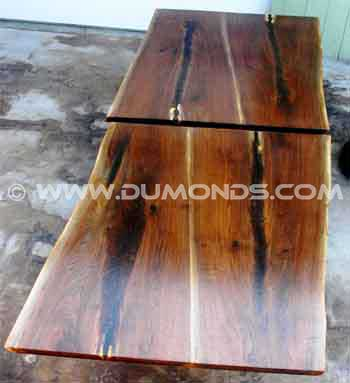 Walnut Crotch Slab Rustic Dining Tables
