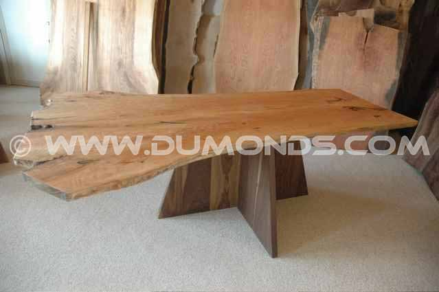 Organic Custom Curly Cherry Crotch Slab Custom Dining Table