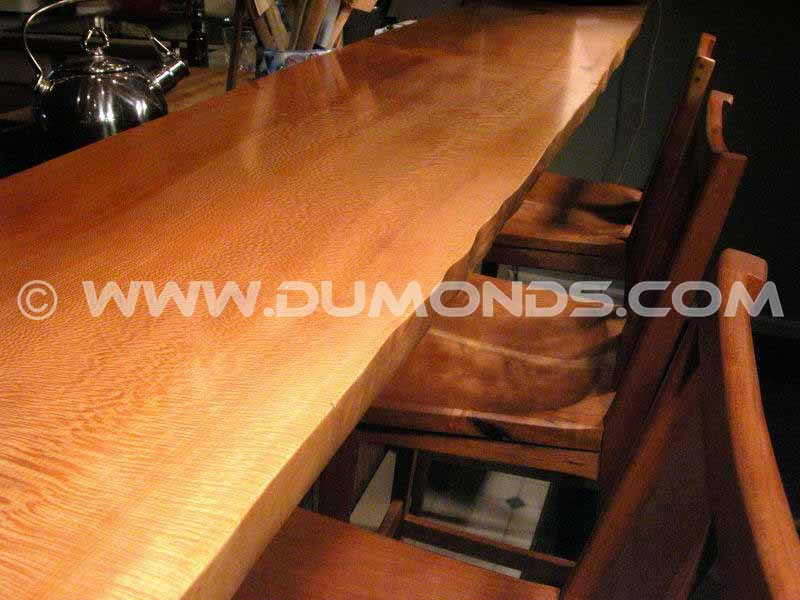 Custom Sycamore Slab Bar Top