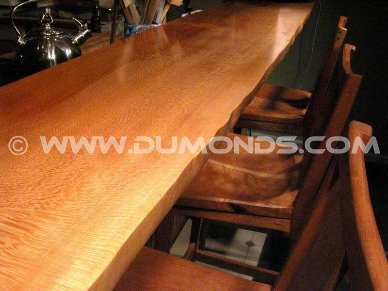 Custom Rustic Sycamore Bar Top