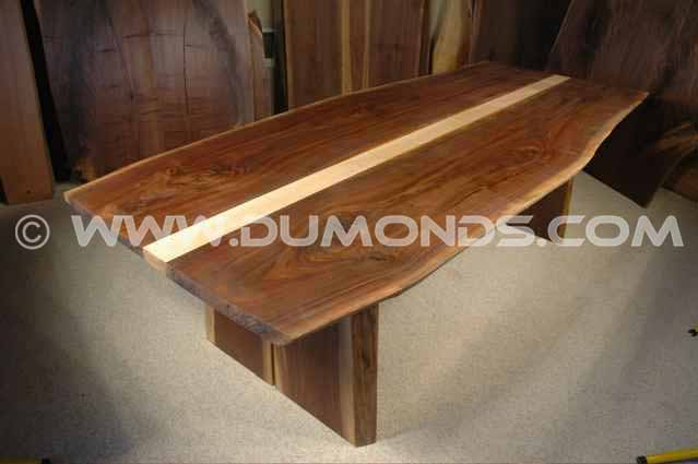 Walnut Slab Custom Conference Room Table