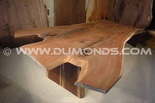 Custom Curly Cherry Crotch Slab Conference Room Table