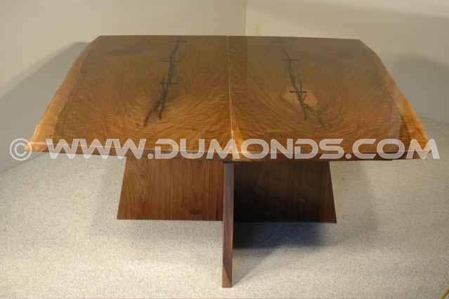 Custom Walnut Slab BoardroomTable