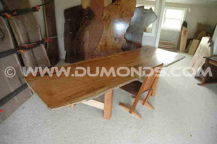 Maple slab conference table