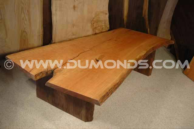 5' Cherry Crotch Slab Coffee Table -B