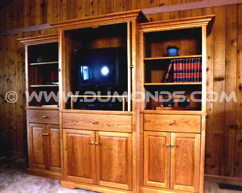 Custom Cherry Wood Entertainment Center