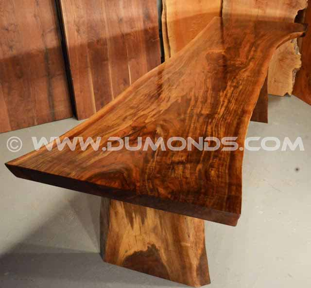 Rustic Claro Walnut Slab Table – The Reed Table