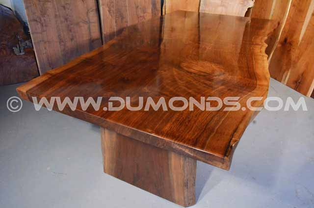 Rustic Claro Walnut Slab Table – The Rauff Table