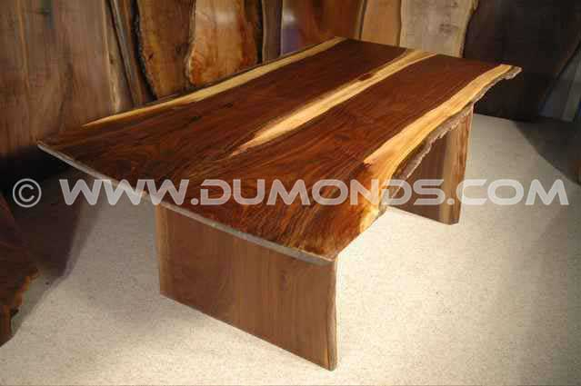 Custom Maple Slab Natrual Edge Dining Table