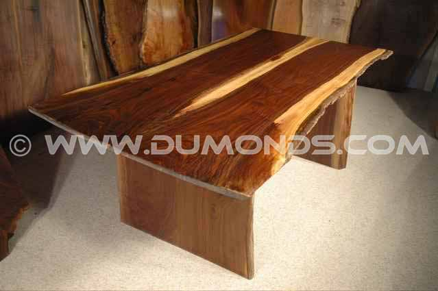 Custom made walnut slab Kitchen table