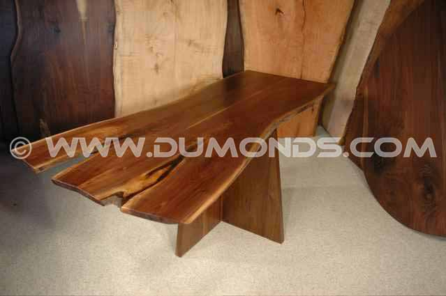 Double Crotch Slab Walnut Slab Kitchen Table