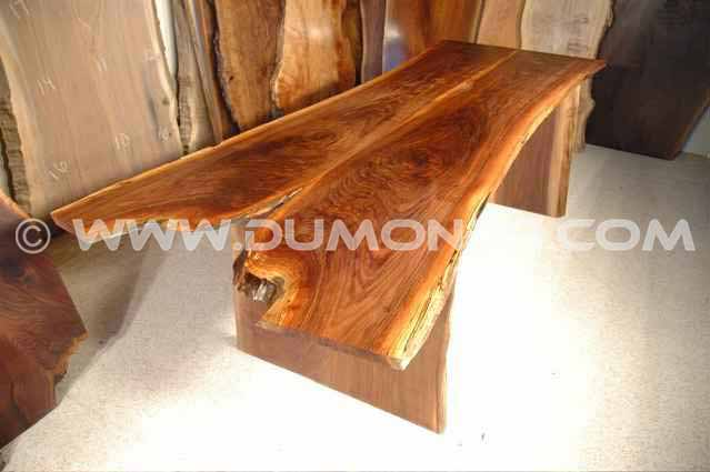 Walnut Crotch Slab Custom Made Kitchen Table