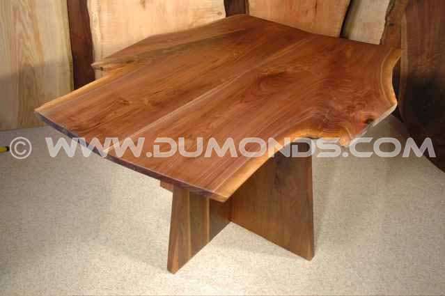 Walnut Crotch Slab Hand Made Dining Table