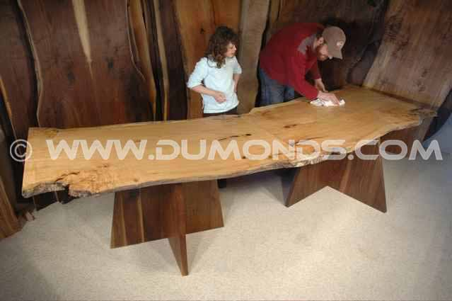 Modular 2 Piece Maple Slab Dining Table