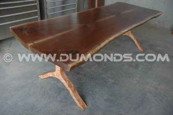 Walnut Slab Natural Edge Conference Table