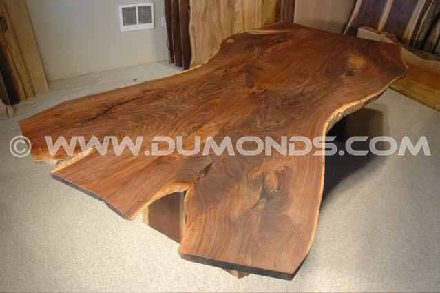 "The ""Dunton"" Custom Walnut Slab Dining Table"