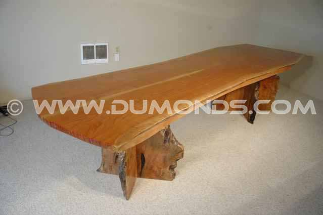 Book matched Cherry Wood Slab Dining Table
