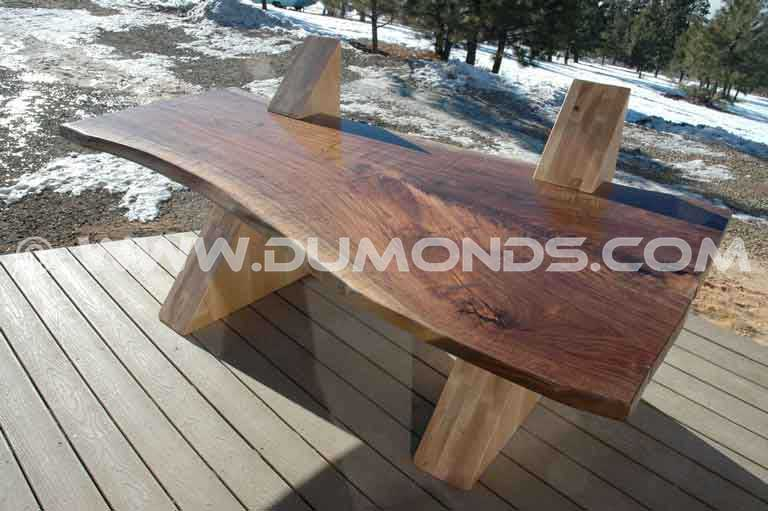 Handmade Cantilevered Reclaimed Walnut Desk