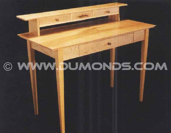 Handmade Custom Maple Shaker Desk