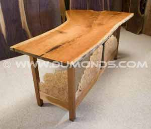 Handmade rustic custom desk was featured on the HGTV series Modern Masters