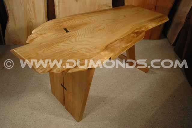 Rustic Ash and Cherry Slab Handmade Custom Desk