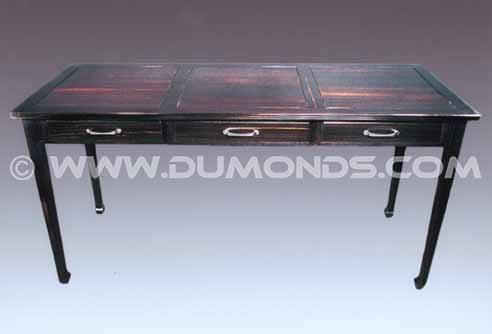 Solid Black Executive Desk Natural Gaboon Ebony custom executive desk