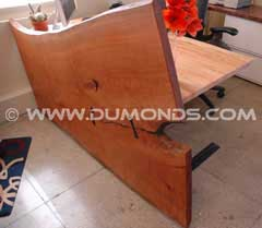Custom Handmade Cherry Slab Desk