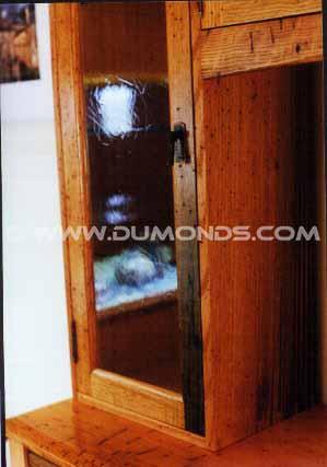 Custom Handmade Rustic Oak China Cabinet / Hutch