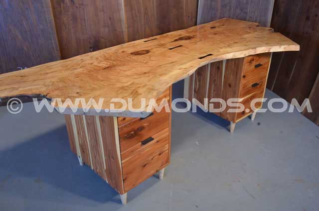 Custom Rustic Maple Desk