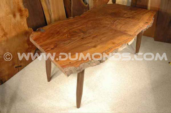 Claro Walnut Slab Dining Table