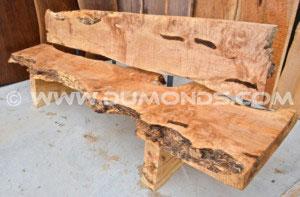Burl Maple Slab Bench