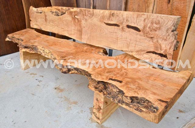 Burl Maple slab bench