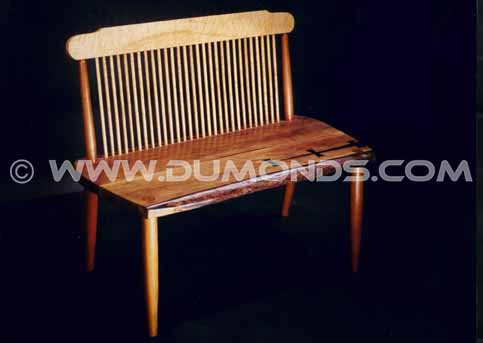 Walnut Slab Handmade Wood Slab Bench