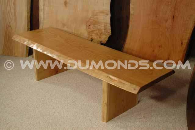 Cherry Slab Handmade Wood Slab Bench