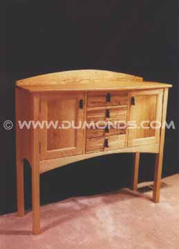 Rustic Custom Oak Buffet Sideboard