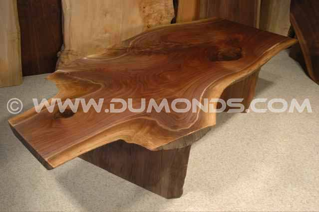 6′ Irregular Walnut Crotch Custom Wood Slab Coffee Table