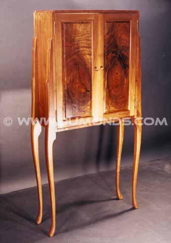 Custom Rustic Walnut Curio Cabinet / Perfume Cabinet