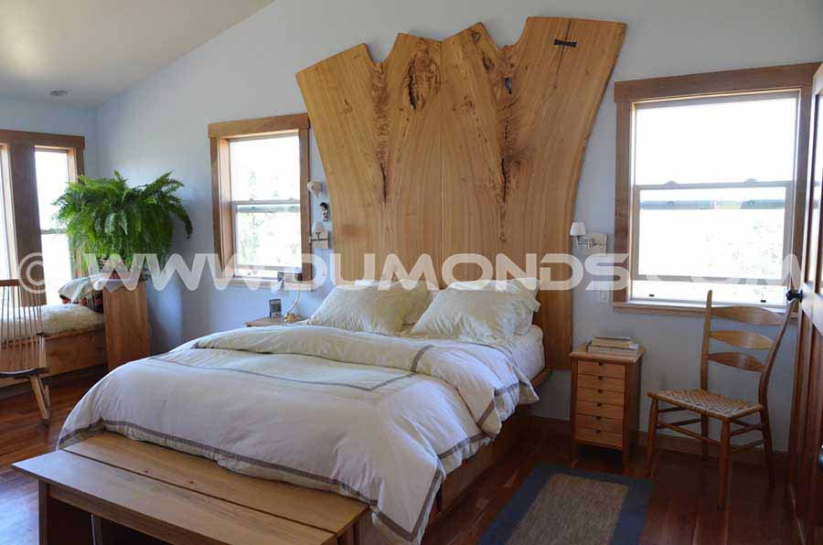 Natural Edge Siberian Elm Slab Bed