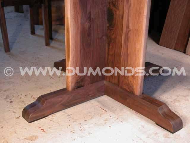 Solid walnut pedestal base