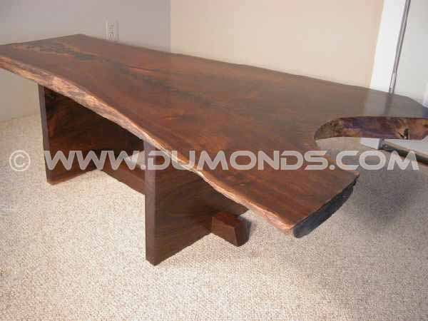 Walnut Slab Custom Coffee Table