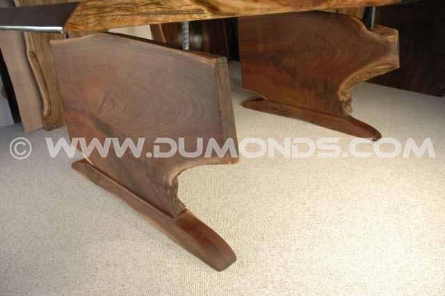 Walnut slab custom coffee table