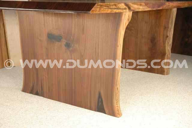 Flared slab table