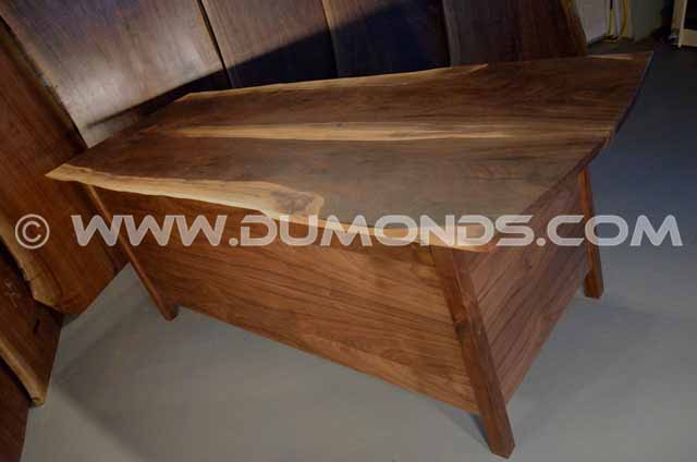 Custom Walnut Three Drawer Desk